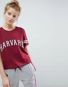 Футболка Harvard ASOS LOUNGE - Красный