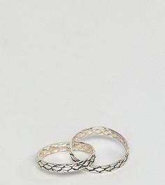 Серебряное фактурное кольцо Reclaimed Vintage Inspired эксклюзивно для ASOS - Серебряный