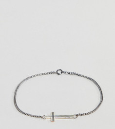 Серебряный браслет с крестиком Reclaimed Vintage Inspired эксклюзивно для ASOS - Серебряный