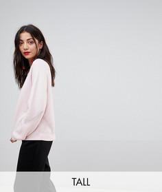 Трикотажный свитшот Y.A.S Tall - Розовый