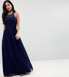 Платье макси Little Mistress Petite - Темно-синий