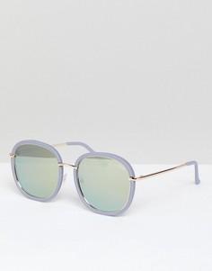 Сиреневые круглые солнцезащитные очки Quay Australia Dreamy Ways - Фиолетовый