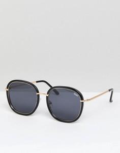 Черные круглые солнцезащитные очки Quay Australia Dreamy Ways - Черный