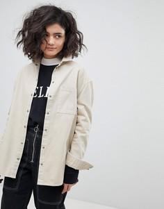 Джинсовая куртка песочного цвета ASOS - Бежевый