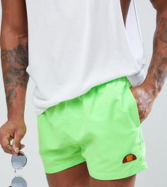 Зеленые флюоресцентные шорты для плавания с маленьким логотипом Ellesse - Зеленый