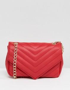 Красная сумка через плечо с золотистой цепочкой Glamorous - Красный
