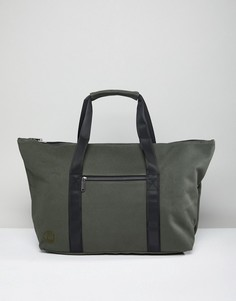Парусиновая дорожная сумка цвета хаки Mi-Pac Carryall - Зеленый