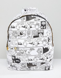 Рюкзак с винтажным принтом в стиле комиксов Mi-Pac x Mr. Men - Мульти