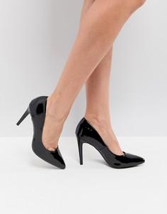 Лакированные туфли-лодочки с острым носком New Look - Черный