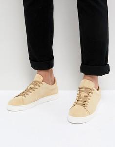 Замшевые кроссовки с белой подошвой Selected Homme - Бежевый