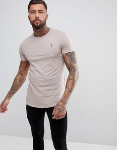 Светло-розовая длинная футболка Religion - Розовый