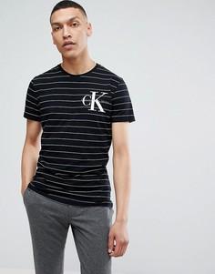 Футболка в полоску с логотипом на груди Calvin Klein Jeans - Черный
