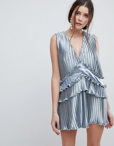 Свободное платье с оборкой Finders - Синий