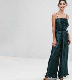 Эксклюзивные широкие брюки с плиссировкой Finders - Зеленый