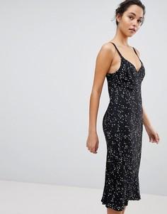 Платье миди на бретельках со звездным принтом Bec & Bridge - Черный