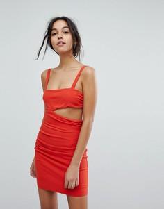 Платье мини с вырезом Bec & Bridge - Красный