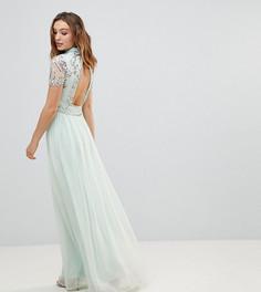 Декорированное платье макси Frock And Frill Premium - Синий