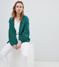 Oversize-кардиган ASOS PETITE - Зеленый
