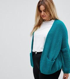Oversize-кардиган крупной вязки ASOS CURVE - Зеленый