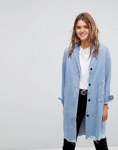 Длинная джинсовая куртка с необработанными краями Levis - Синий Levis®
