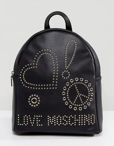 Рюкзак с заклепками Love Moschino - Черный