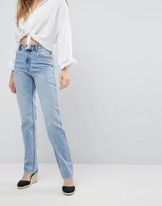Прямые джинсы с необработанным краем Rollas Original - Синий