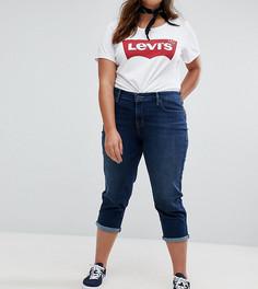 Моделирующие укороченные джинсы Levis Plus - Синий