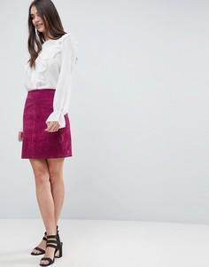 Замшевая мини-юбка Vila - Фиолетовый