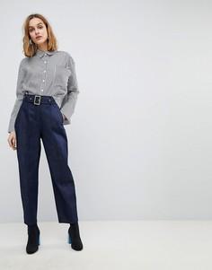 Суженные книзу джинсовые брюки цвета индиго ASOS ALANIS - Синий