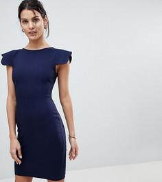 Платье-футляр с фигурными рукавами Vesper - Темно-синий