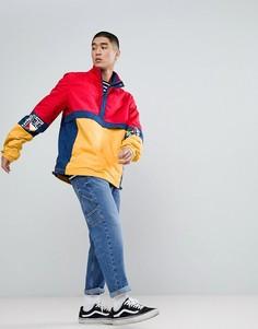 Красно-желтая куртка в стиле ретро с принтом Tommy Jeans - Мульти Hilfiger Denim