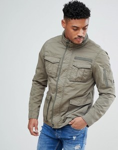 Куртка цвета хаки в стиле милитари Blend - Зеленый