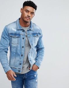 Светлая джинсовая куртка Blend - Синий