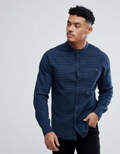 Рубашка в полоску с воротником на пуговицах Blend - Темно-синий