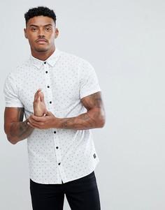 Рубашка в горошек с короткими рукавами Blend - Белый
