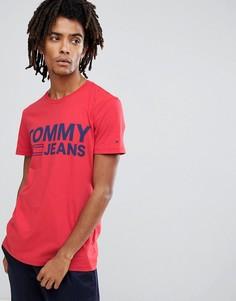 Красная футболка с большим логотипом Tommy Jeans - Красный Hilfiger Denim