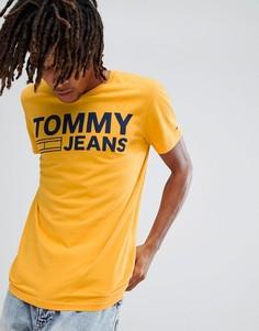 Желтая футболка с логотипом Tommy Jeans - Желтый Hilfiger Denim