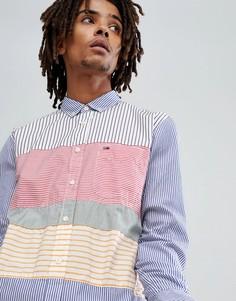 Рубашка классического кроя в разноцветную полоску Tommy Jeans - Мульти Hilfiger Denim