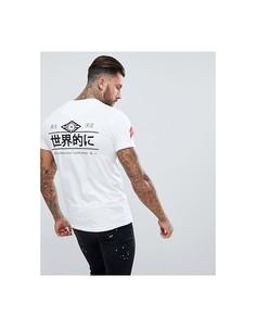 Белая обтягивающая футболка с принтом на спине Good For Nothing - Белый