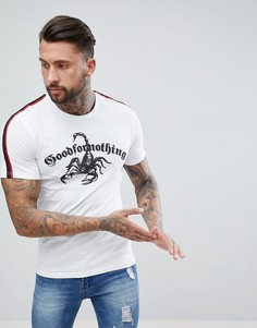 Белая обтягивающая футболка с логотипом в виде скорпиона Good For Nothing - Белый