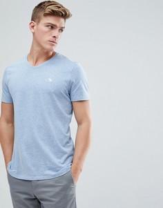 Синяя футболка с V-образным вырезом и логотипом Abercrombie & Fitch - Синий