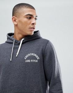 Серый худи с логотипом на груди Abercrombie & Fitch - Серый