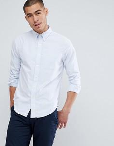 Зауженная оксфордская рубашка с воротником на пуговицах Abercrombie & Fitch - Синий