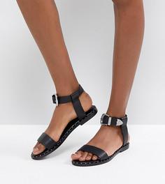 Кожаные сандалии в стиле вестерн ASOS FAZ - Черный