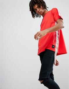 Красная оверсайз-футболка с лентами Sixth June - Красный