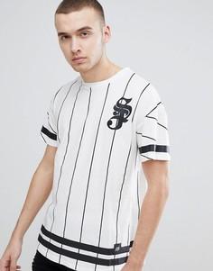Белая футболка в полоску Sixth June - Белый