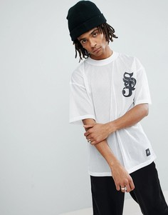 Белая сетчатая футболка с логотипом Sixth June - Белый