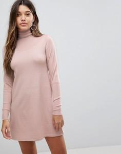 Трикотажное платье мини с воротником поло Fashion Union - Бежевый