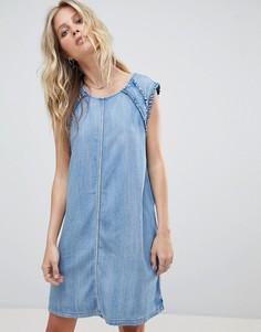 Джинсовое платье с оборками Replay - Синий