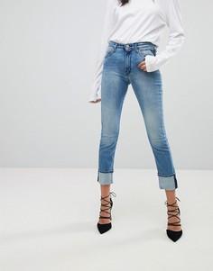 Эластичные джинсы узкого кроя с завышенной талией Replay Easy - Синий